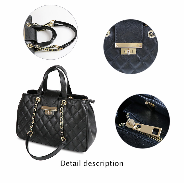 2019 Wholesale Designer PU leather chain handbag Fashion Women Bags Ladies Handbags Manufacturers