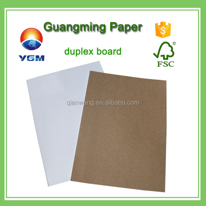 high quality 200gsm duplex board grey back paper