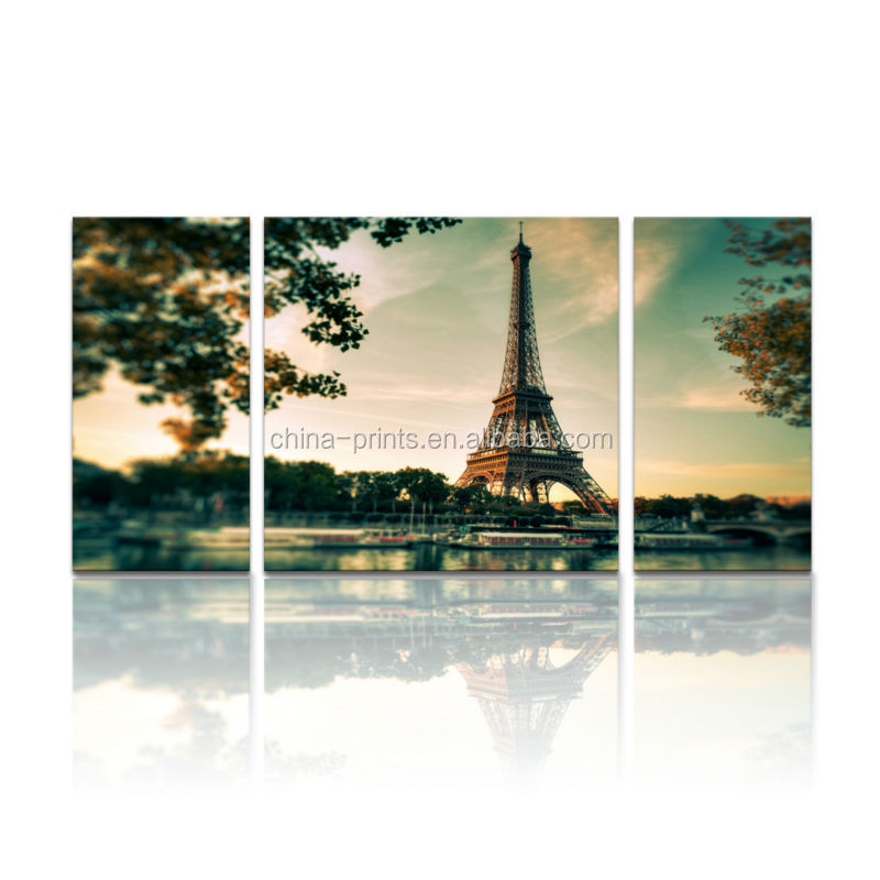 Paris torre eiffel pintura/canvas art para decoracion de pared/multi-panel canvas wall art