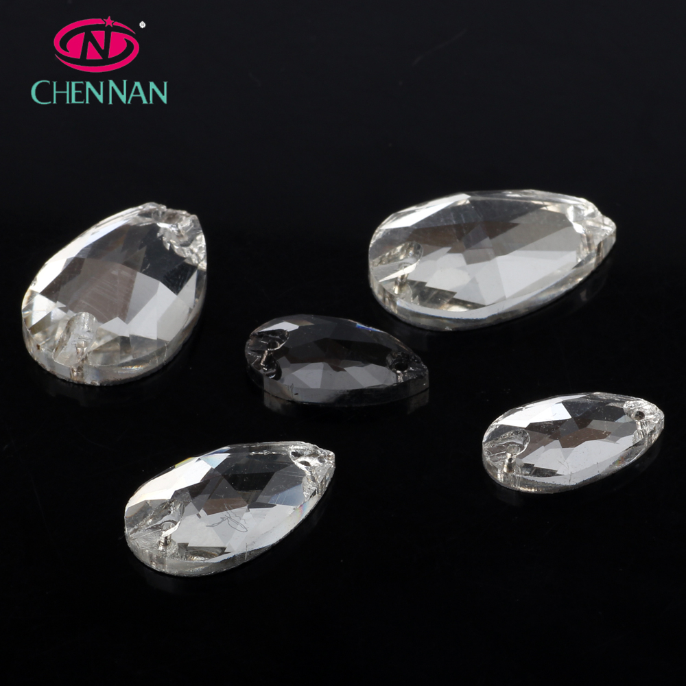 Clear White AB Flat Back Crystals Non Hot Fix Flatback Glass Rhinestone, 1440pcs AAA Top Quality