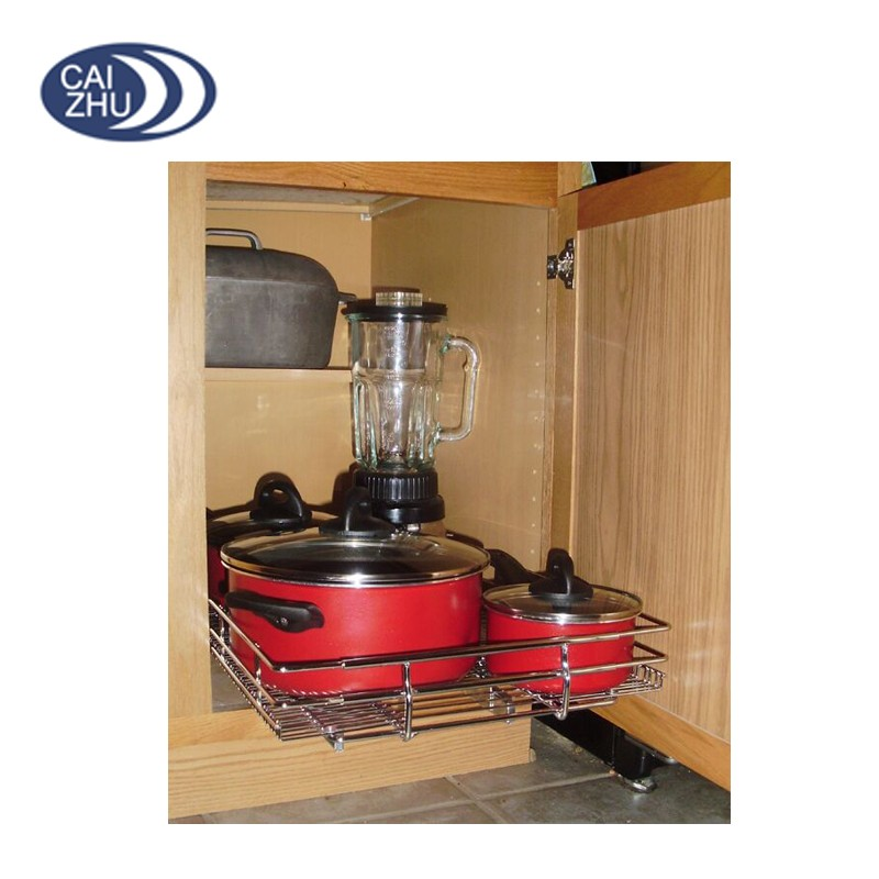 Stainless Steel Kitchen Cabinet Wire Pull Out Drawer Basket Buy Stainless Steel Mesh Baskets