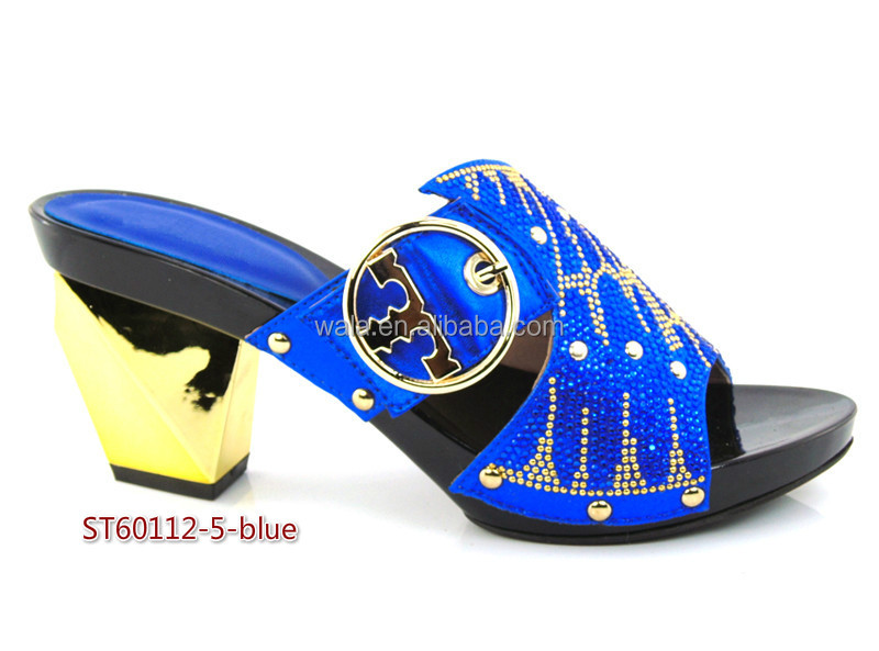 shoes heel sandals wedding lady for African blue shoes ST60112 square 5BqOPYw