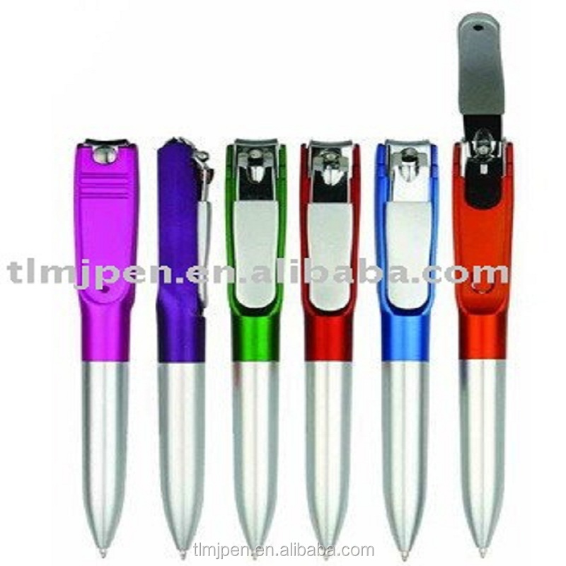 wholesale advertising ball pen promotional Multifunctional nail scissors pen plastic ball pen