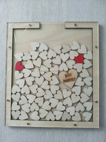 Wedding Wording Photo Frame ,Amazon Best Seller personalized wood guest book wedding guest book