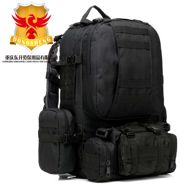 BLACK 1000D Nylon Large 50L Outdoor Hiking Waterproof tactical military backpack