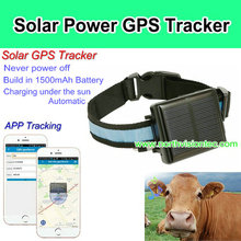 App control solar powered gps tracker with charging under the sun function