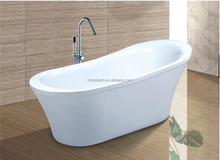 1600 mm Pure white chinese soaking tub with copper drainer