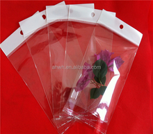Accept Custom Order and OPP,BOPP,PE Material clear plastic bag with white butterfly hole