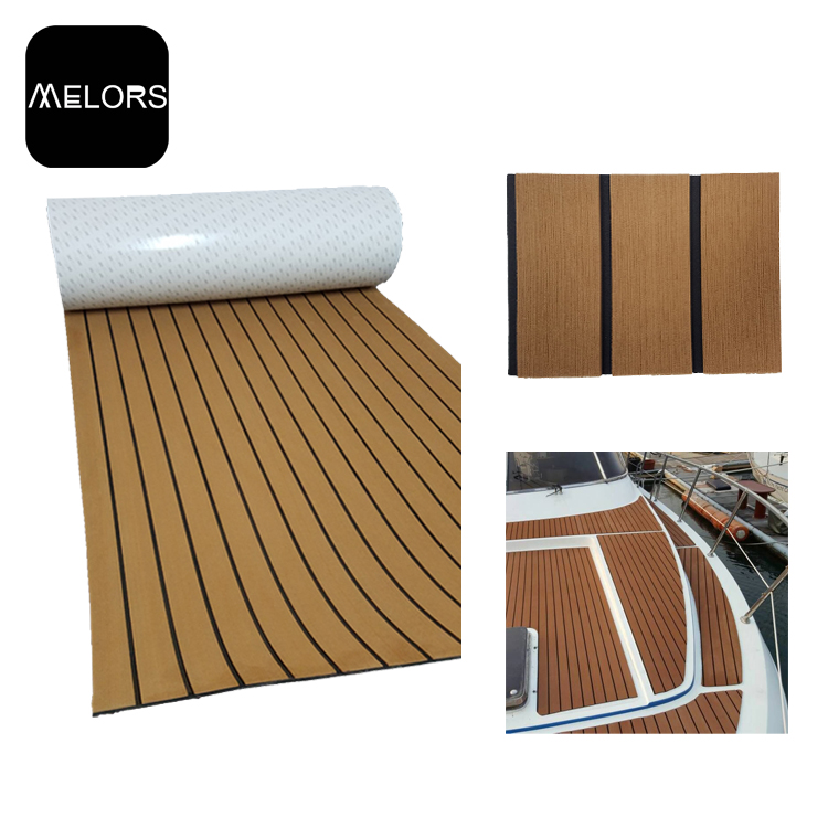 Melors 98in x 47in EVA Marine Foam Faux Teak Non Skid Pads Deck Pads For Boats