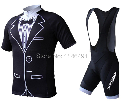 9465e293f Get Quotations · Tuxedo 2015 cycling jersey bike clothes and bib shorts for men  sport straps