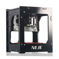 NEJE mini 1500mw USB laser engraver automatic carver DIY print engraving carving machine with protective panel