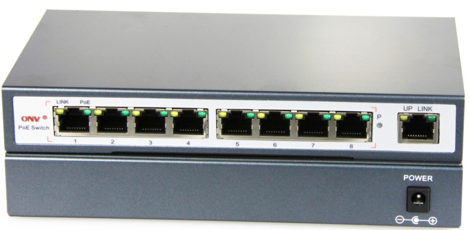 8 Port Poe Switch 48v 150watt Like D Link 8 Port Switch