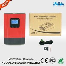 Shenzhen off grid hybrid solar charge controllers 30a for solar home system with pv monitoring & display system