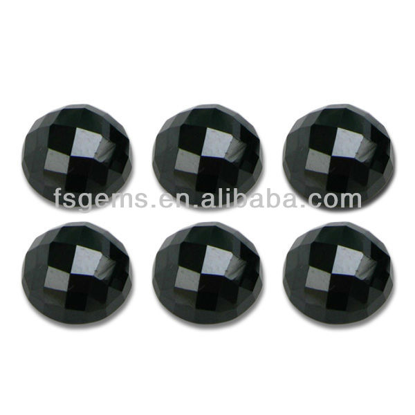 5mm 4mm 6mm FACETED ROUND NATURAL BLACK SPINEL LOOSE GEMSTONE