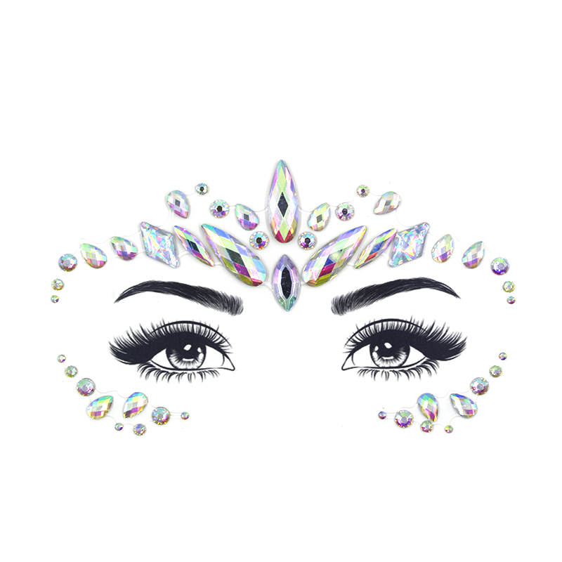 Face jewels sticker Make Up Adhesive Body Art Gems Rhinestone Temporary Tattoo Stickers for Festival Party