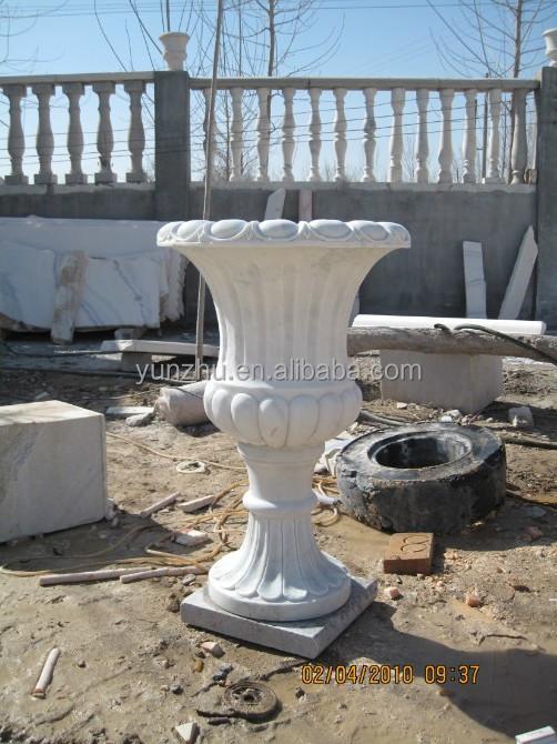 pas cher sculpt la main marbre pierre jardin pots de fleurs avec gar on avec statue buy. Black Bedroom Furniture Sets. Home Design Ideas