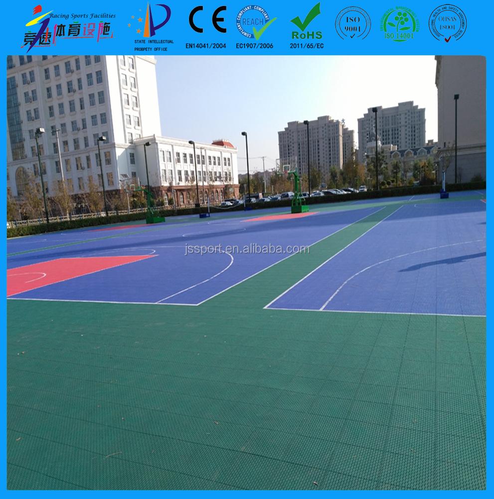 Modular outdoor sports flooring gurus floor for Sport court floor
