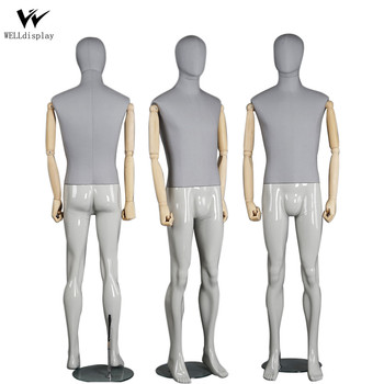 well Grey Male Fabric Tailor Dress Forms Customize Male Mannequin