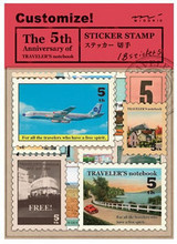 4 Sheets MIDORI TRAVELER'S Notebook5 Vintage Travel Stamp Stickers Decorative DIY Stationery Stickers Office and School Supplies