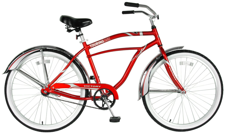 Victory Men's Touring One Cruiser Bike (Red/White, 26 X 18-Inch)