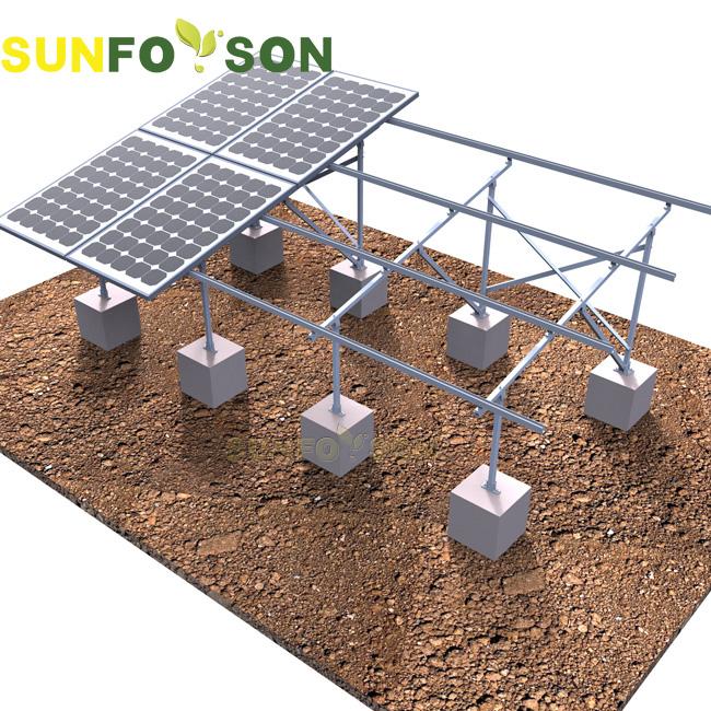 Aluminum Concrete Based Ground Pv Solar Rack Buy High