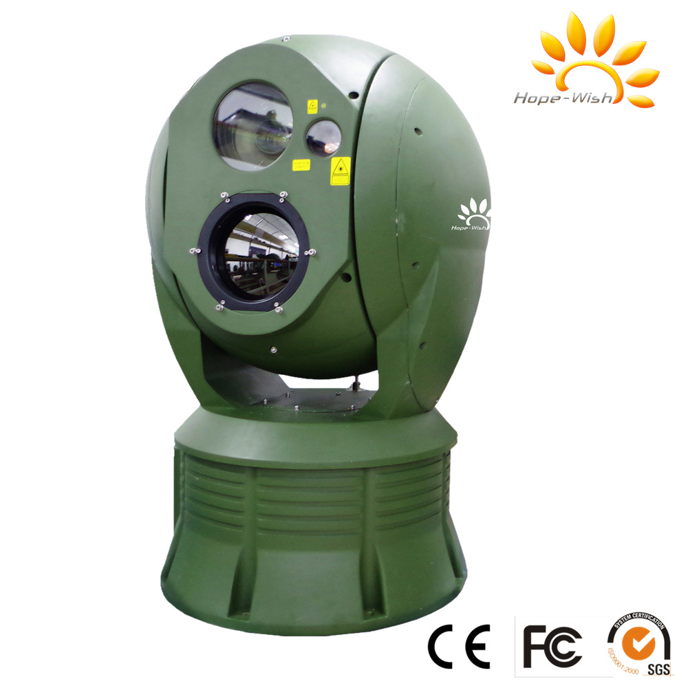 Military gyro stabilized marine surveillance IP camera with auto tracking and LRF function