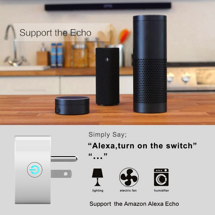 2 Pack Wi-Fi Mini plug Works with Amazon Alexa & Google Home Remote Control Your Device from amywhere