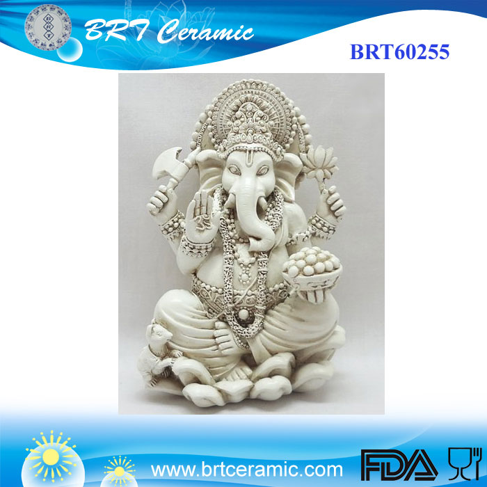 Resin Rare Lord Ganesh Ganesha Beautiful Statues Hindu Good Luck God