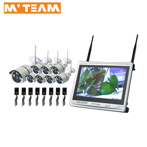 Hot Sale China Factory Easy Remote Use DIY CCTV Wireless Camera Security 8ch SystemHD NVR Kit with 12.5 inch LCD Screen