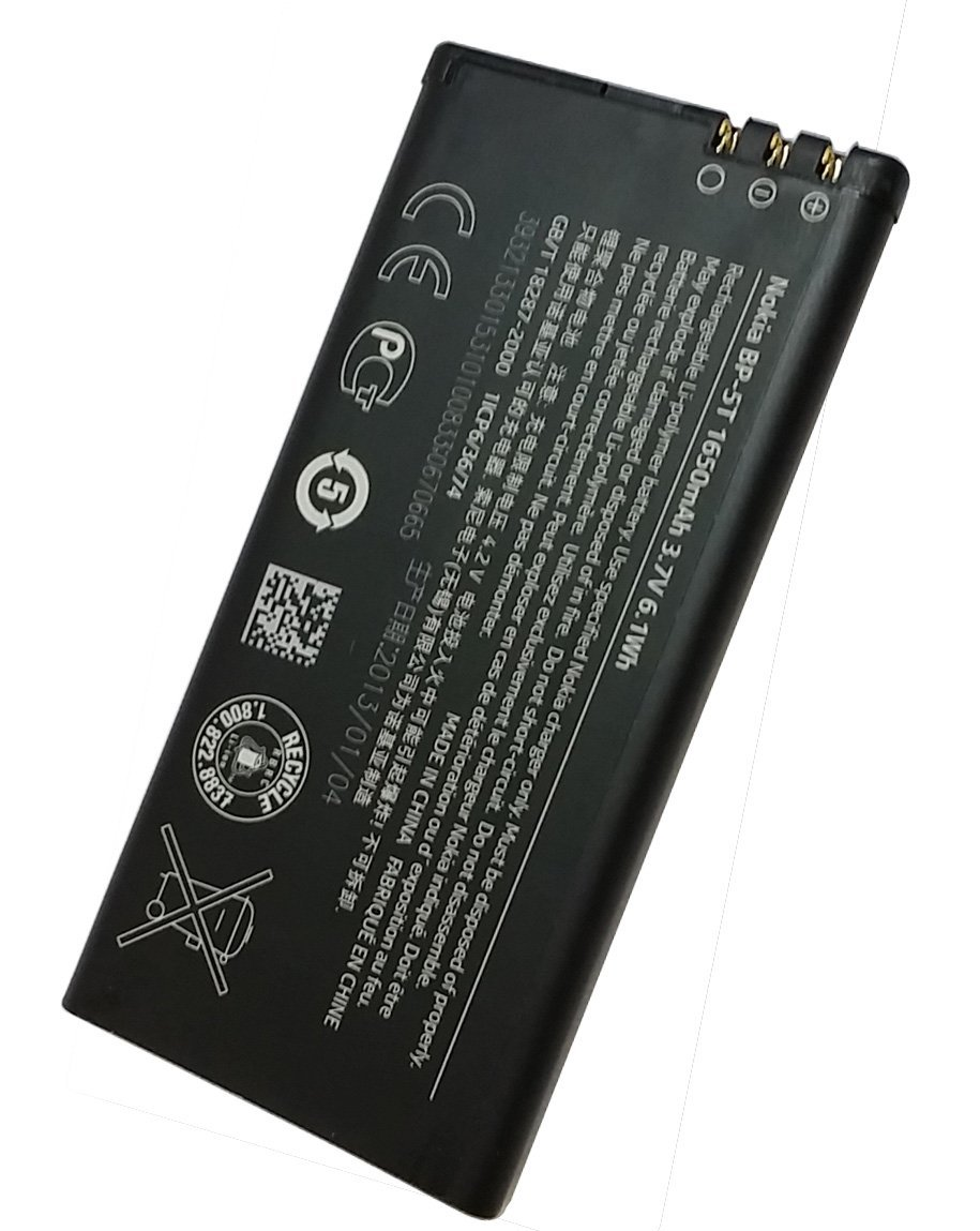 1650mah BP-5T Replacement Phone Battery For Nokia Lumia 820