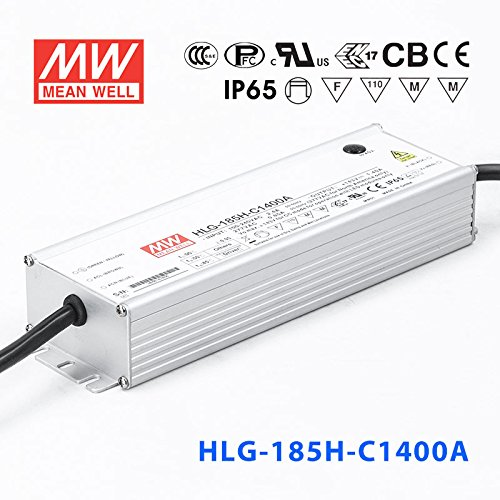 Meanwell HLG-185H-C1400A Power Supply _ 200W 1400mA