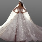 Beading Bridal Wedding Dress 2019 Ball Gown Luxury Bridal Gown Long Sleeve Latest Wedding Dress