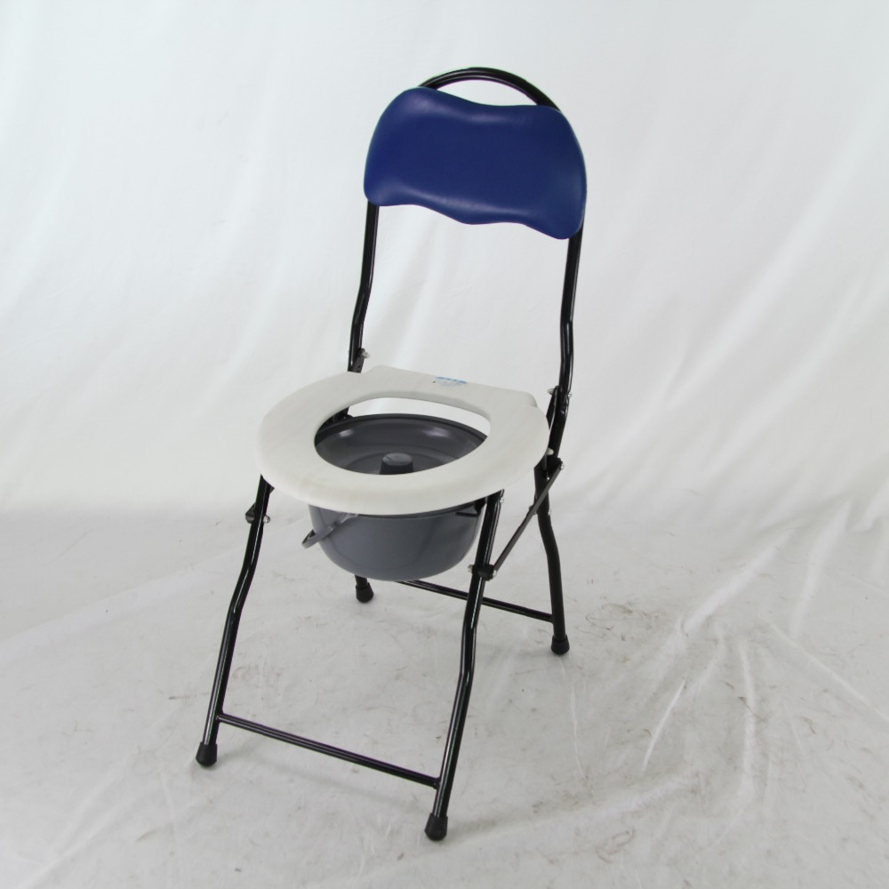 handicap comfortable bedside commode chair with backrest