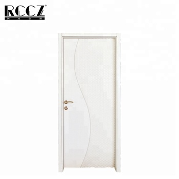 White Lacquer Mdf Coated Solid Wood Interior Panel Doors Design