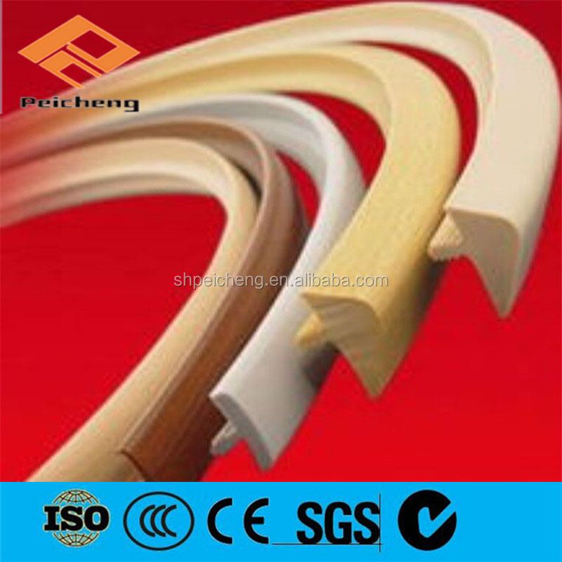 Plastic profile, flexible pvc t profile edge banding / u shaped edge strip