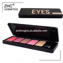 CC30435 Eye Use and Dry Eye Shadow Type 5 color eye shadow palette tin box packing with private label