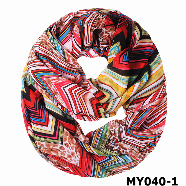 Hot selling fashion women lady chiffon circle scarf