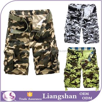 0ed0684ff3c70c Pantaloncini uomini pantaloni larghi casuale lavoro shorts 3/4 pantaloni  militari esercito combattere pantaloni mimetici