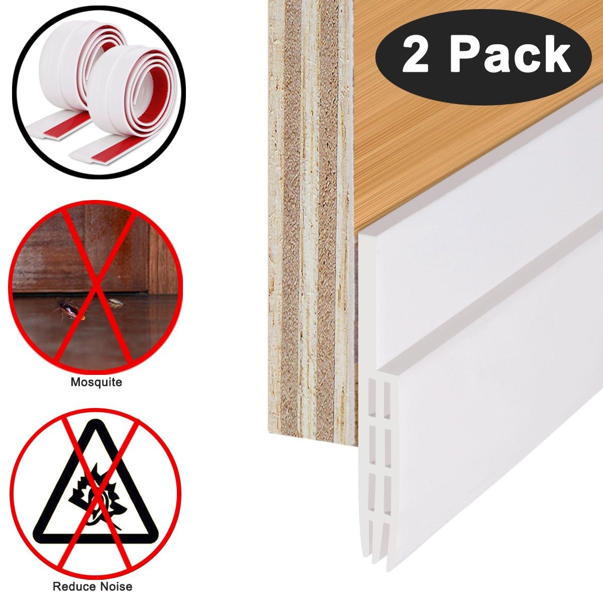 Weather Stripping Under Door Sweep Weather Stripping Door Bottom Seal Strip Door Draft Stopper by CooZero Door Sweep