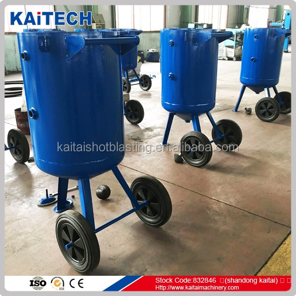 2017 best quality and cheap portable wet blasting pot/ sand blast pot