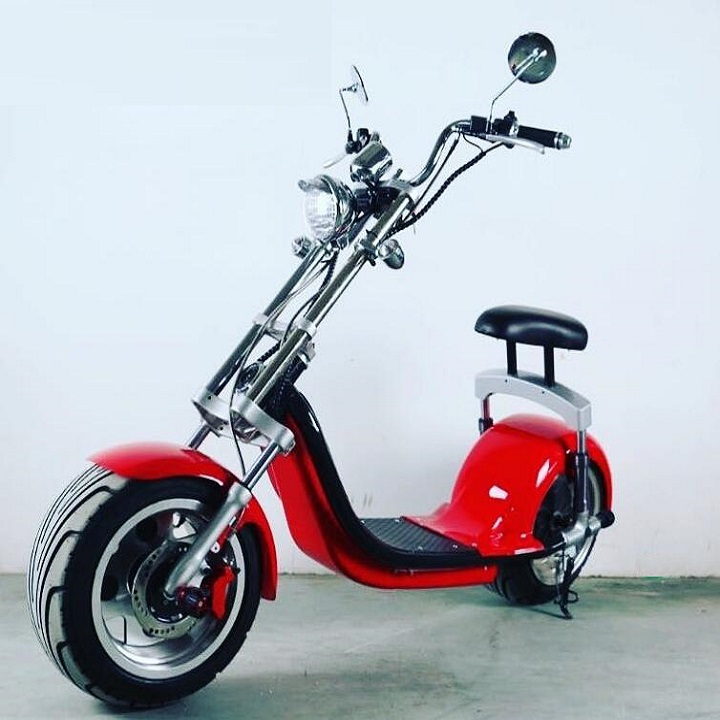 Holland drop shipping adult electric scooter 1500w 60v 12Ah electric chopper motorcycle bike kit with CE