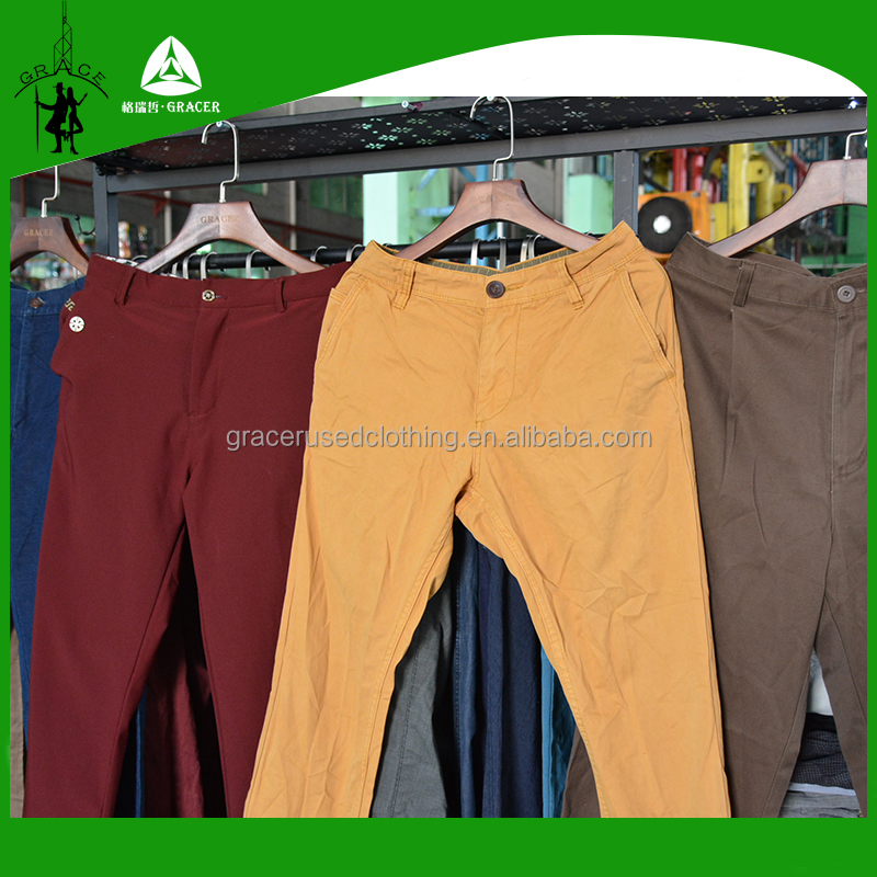 From china Usa style Bales High End Men Cotton Long Pants wholesale used clothing hot sale in australia
