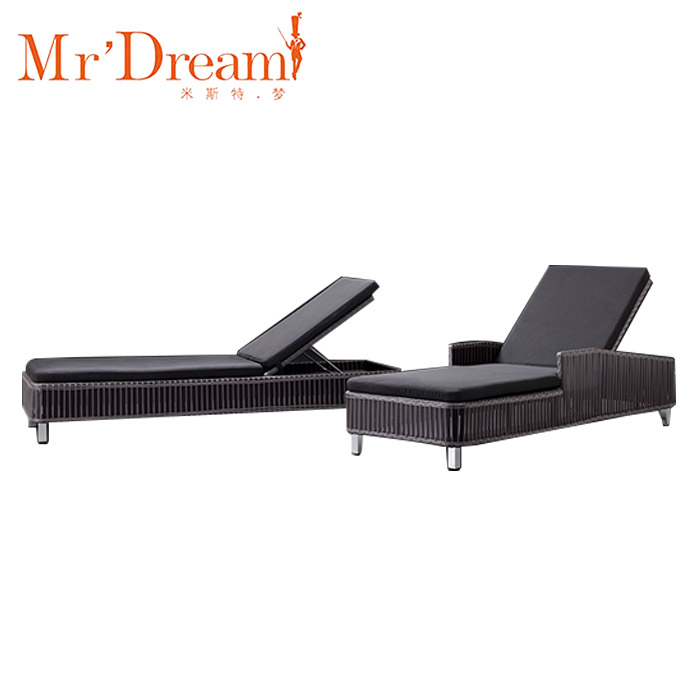 Mr Dream hot discounts black soft outdoor chaise lounge chair