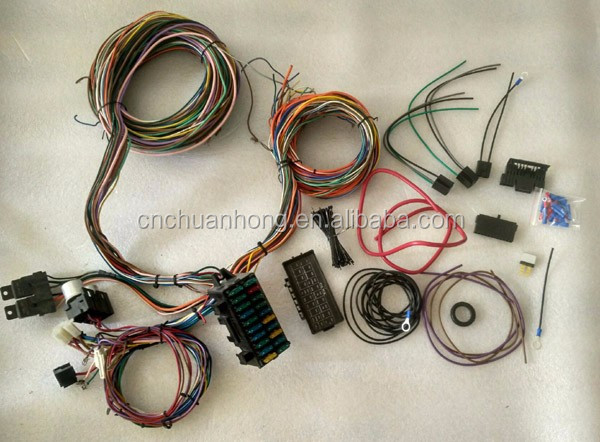 12v 24 Circuit 20 Fuse Complete Universal Wiring Harness Wire Kit Hot Rod Rat V8 high quality
