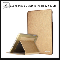 [XUNDD]Best Selling Encore Series Golden Flip Wallet Leather Case Cover for Apple iPad Mini