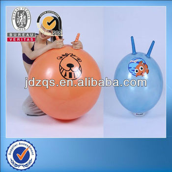 Hippity Hop >> Kids Children Pvc Inflatable Hippity Hop Handle Ball Toy Sky Blue