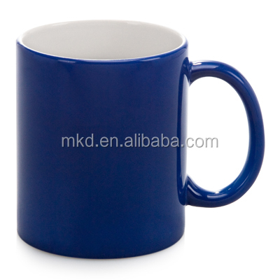 11 oz. Blue Glossy finish Hot Water Color changing magic mug for Sublimation