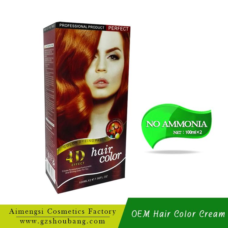 Ammonia Free Permanent Hair Color Cream Wholesale Hair Color