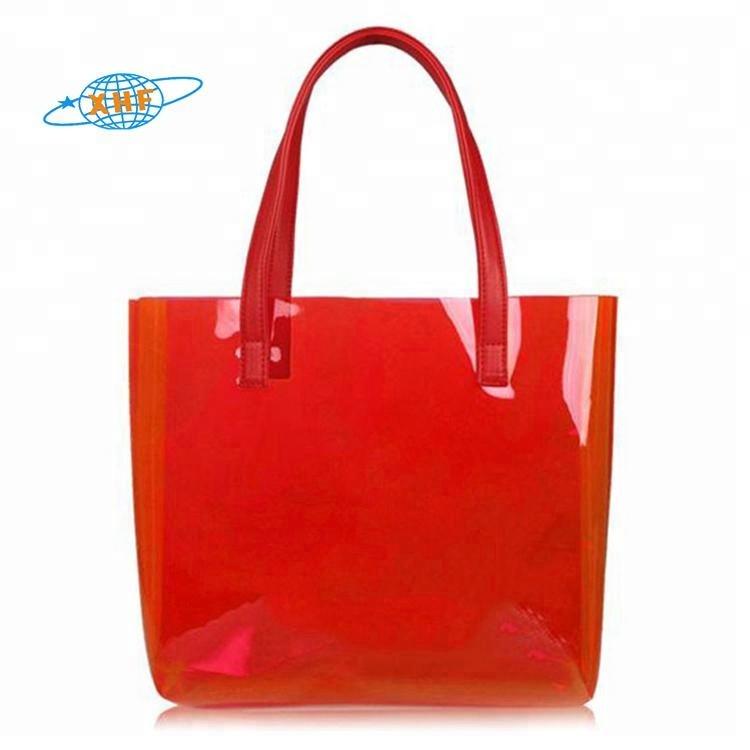 PVC handbag transparent beach bag promotion
