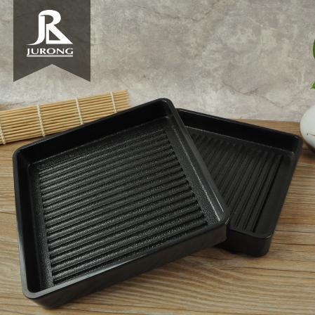 Alta calidad apilable restaurante Hot pot de plástico shabu bandeja de melamina de barbacoa de la placa